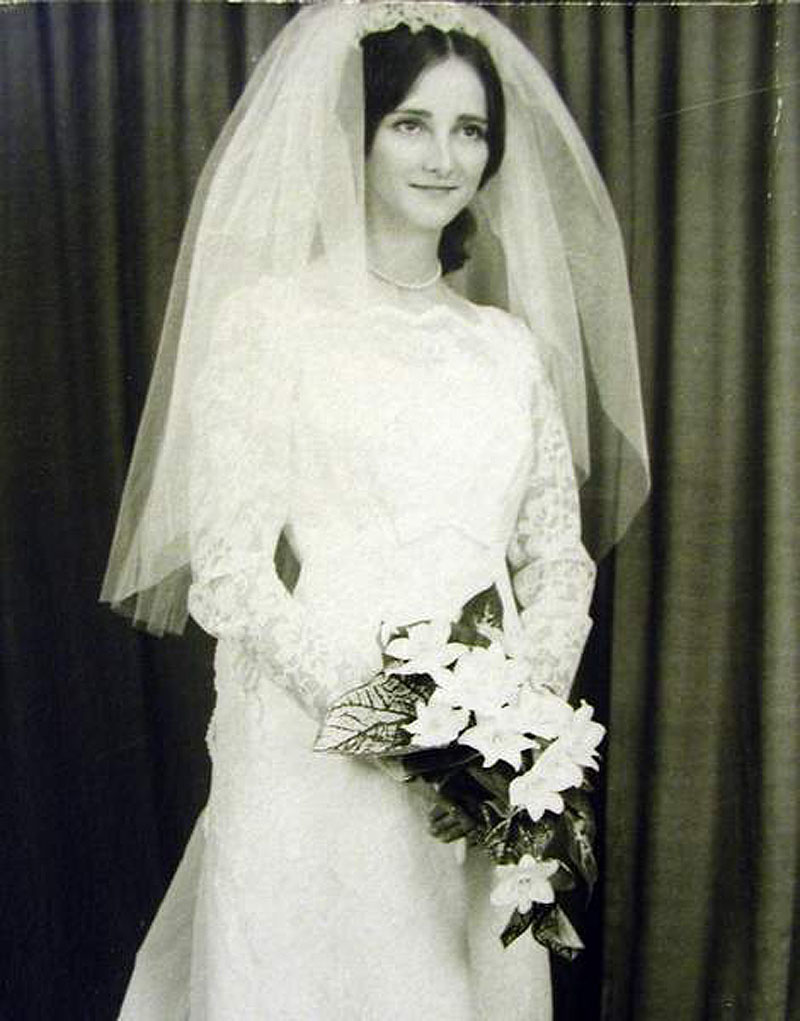 The wedding photo of Clara J. Provost, who was separated from her husband at the time she was slain in 1974.