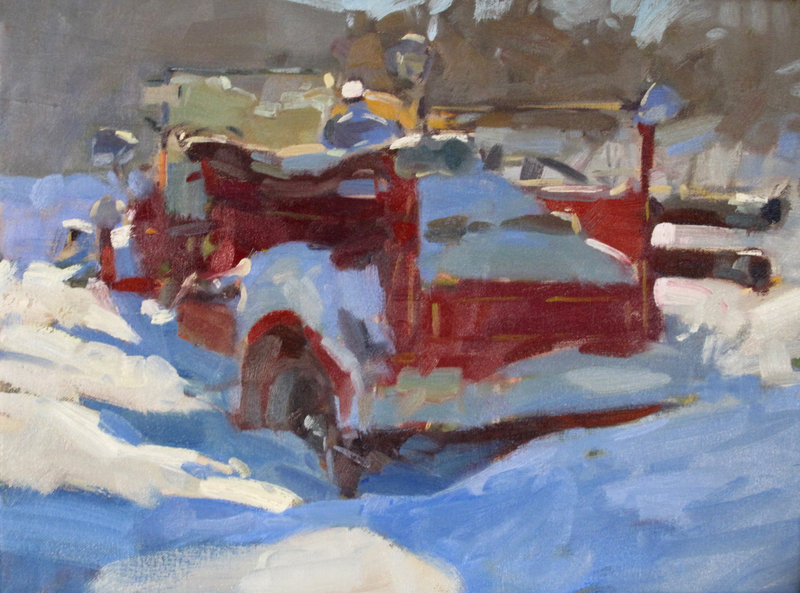 """""""Firetruck in the Snow"""" by Colin Page."""