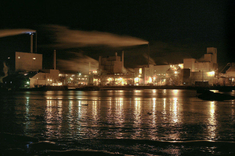 Georgia Pacific's Old Town pulp mill in 2006 just before it closed. Most mills and factories that employed Mainers are gone.
