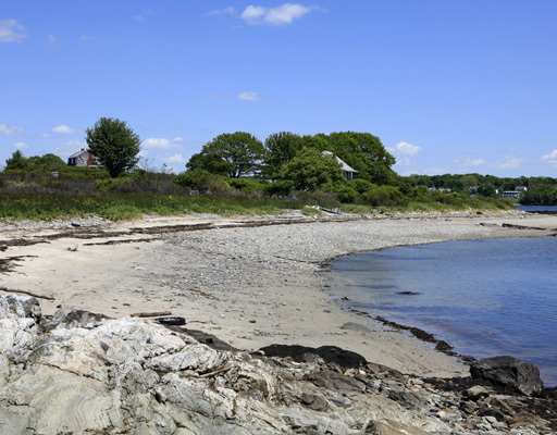 This photograph made available by LandVest Inc. shows one of its five beaches.