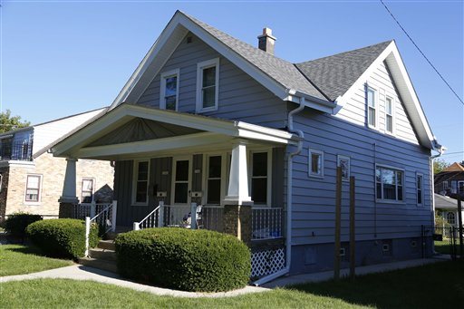 The duplex home in Cudahy, Wis. where shooting suspect Wade Michael Page lived upstairs.