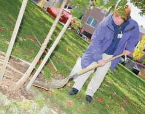 BATH City Councilor Ruthe Pargurko takes part in a ceremonial tree planting in Water front Park in this 2010 file photo. On Friday, the 63- year-old was found dead at her home.