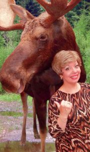 """SUSAN POULIN will be signing copies of her new self-help humor book, """"Finding Your Inner Moose: Ida LeClair's Guide to Livin' the Good Life,"""" at Patten Free Library 33 Summer St., Bath."""