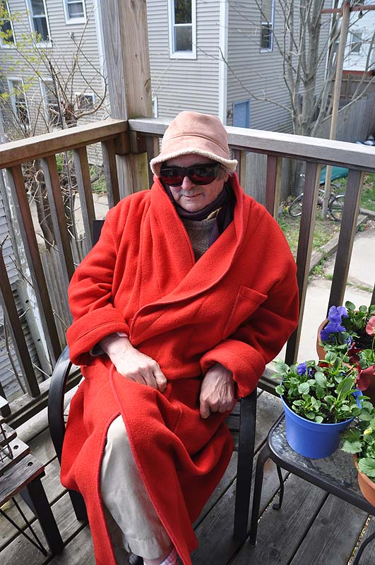 """""""Ed in Red Following Cataract Surgery"""" by Diane Hudson."""