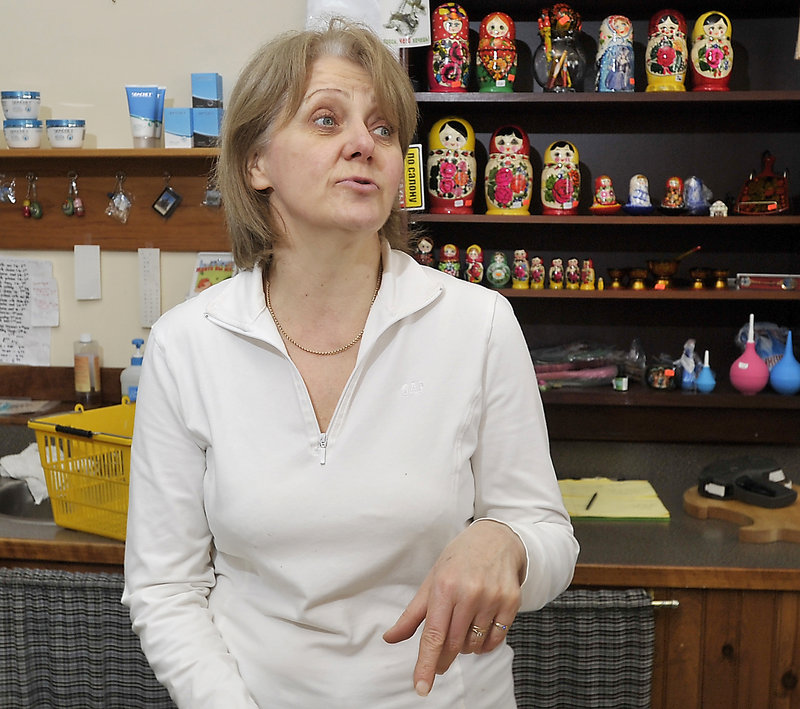 Luba Gorelov owns Medeo European Food & Deli, a specialty foods store in Westbrook, and says she doesn't want Russian immigrants to the United States like herself to be associated with the suspected Boston Marathon bombers.