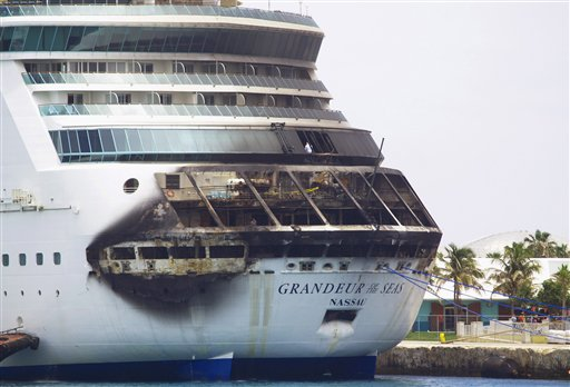 Passengers describe calm scene after cruise ship fire - Portland