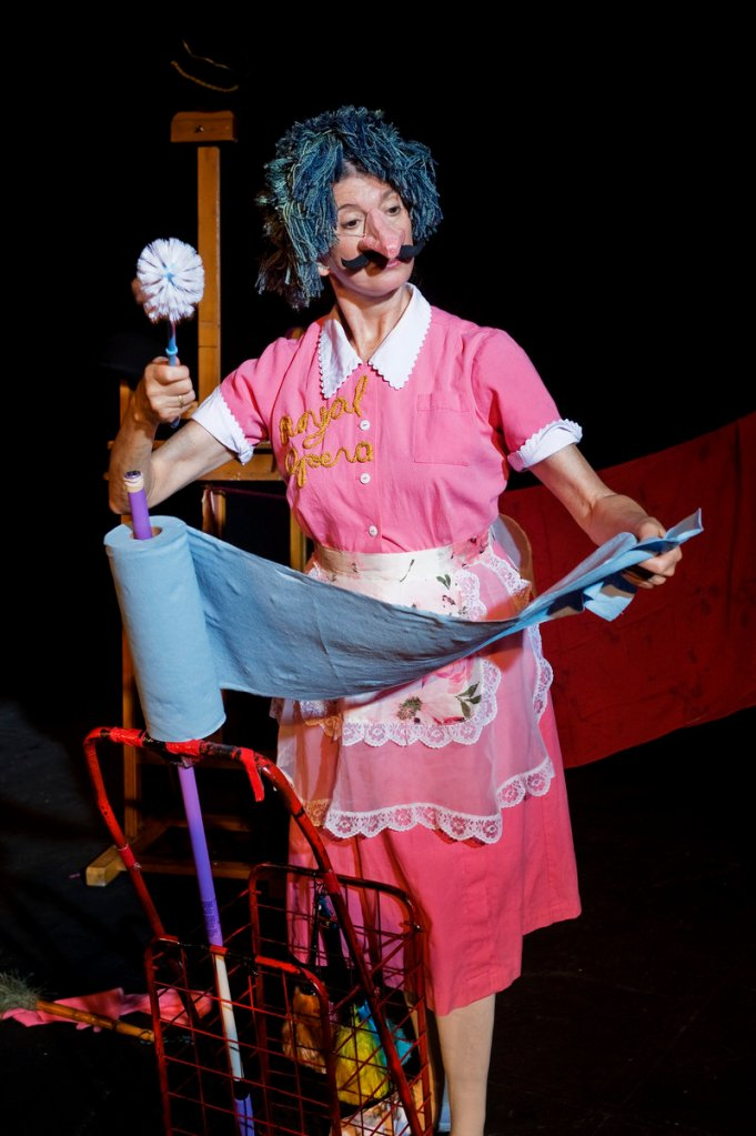 Julie Goell acknowledges that her days as a clown are over, so she has branched out into other pursuits, including puppetry.