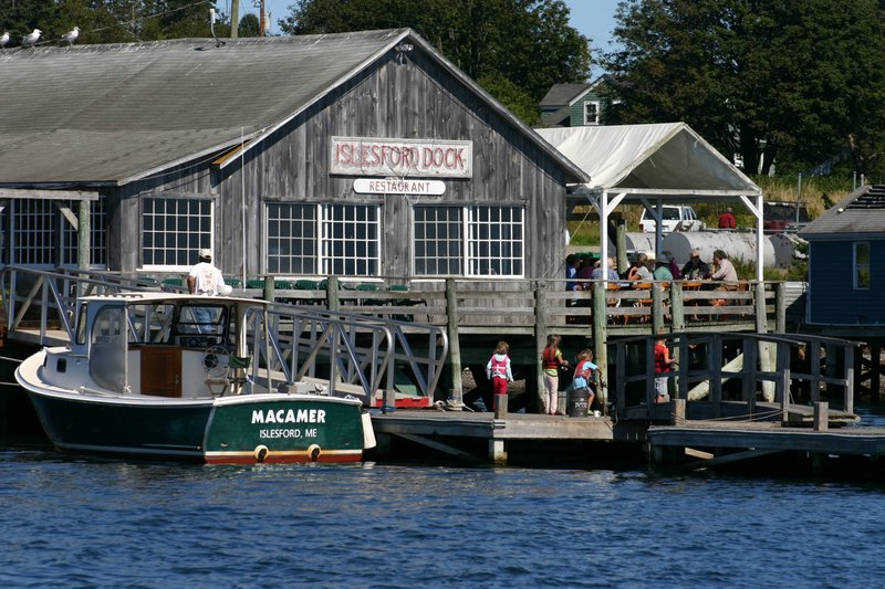 Courtesy photos The Isleford Dock restaurant on Little Cranberry Island has many fans, including Martha Stewart, who has tweeted her fondness for its peanut brittle hot fudge sundae.