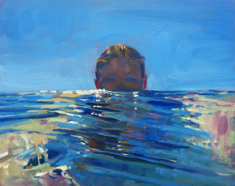 """Become the Ocean,"" oil on panel by Jessica Stammen."