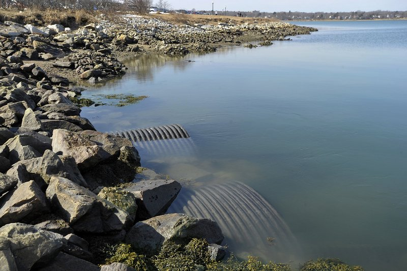 During heavy rain, pipes near Preble Street Extension and Marginal Way in Portland discharge a combination of untreated sewage and stormwater runoff into Back Cove. The city has approved a 15-year, $170 million plan to ease the problem and is proposing paying for it by implementing a new stormwater fee.