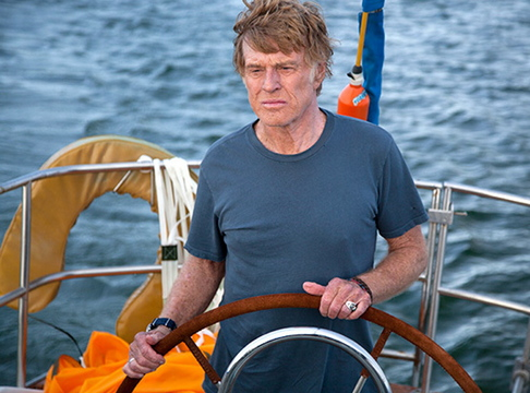 """Robert Redford's character sails solo on the Indian Ocean in """"All is Lost."""" The film, which has received advance acclaim, opens in some Maine cities Friday."""