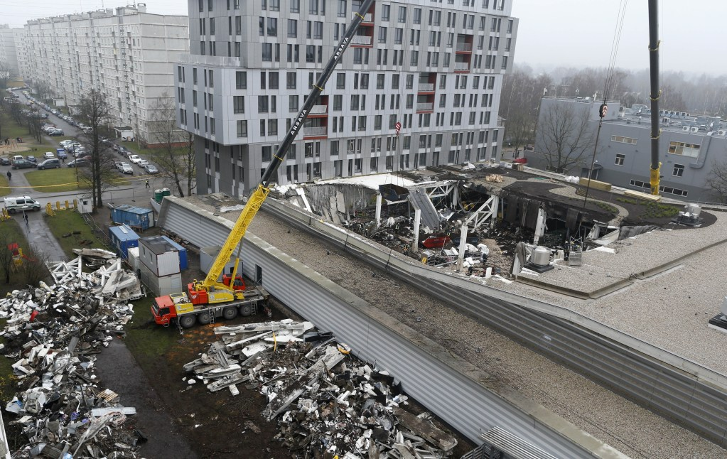Third section of Latvian supermarket roof collapses