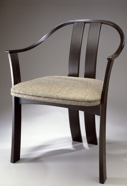 This is a continuous arm chair crafted by Peter Korn, director of the Center for Furniture Craftsmanship in Rockport. (Photo courtesy Peter Korn)