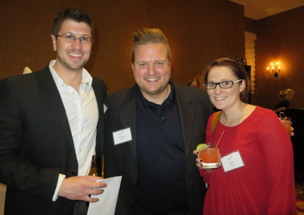 Matthew Burgess, representing the second generation in the family business, Burgess Advertising & Marketing (BAM), with friends David and Erin Pride of Windham.