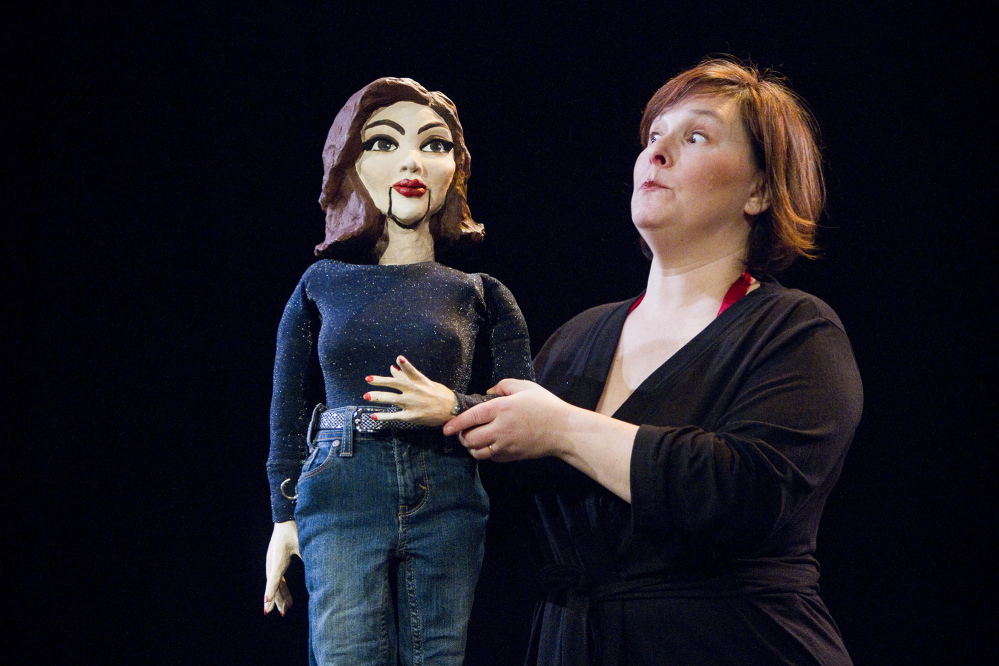 """Bess Weldon performs """"Big Mouth, Thunder Thighs"""" during a rehearsal last week."""
