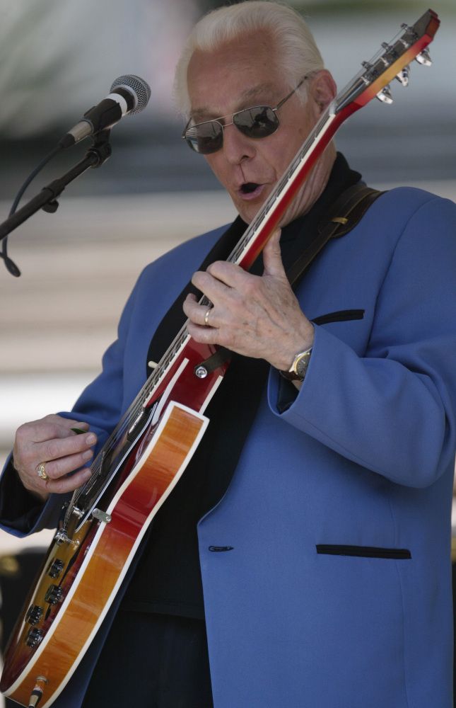 Franny Beecher of the legendary band, Bill Haley and the Comets, is shown performing a solo. He died on Monday in a nursing home near Philadelphia.