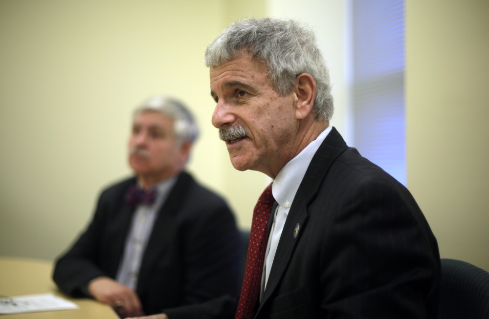 """Moderate Republican Sen. Roger Katz co-sponsored the Medicaid expansion bill debated by senators on Wednesday. """"To mention the word 'expansion' around here is the political equivalent of throwing off your gloves in a hockey game; it's an invitation to brawl,"""" he said."""