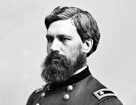 Civil War general and Leeds native Oliver Otis Howard, as photographed by Mathew Brady.