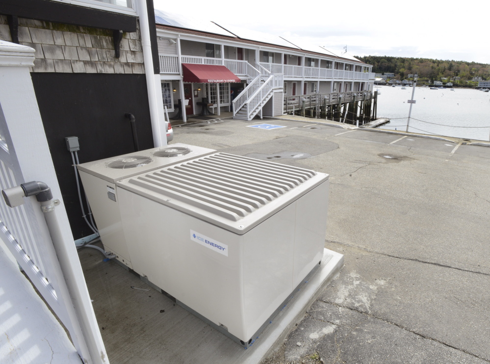 The Tugboat Inn in Boothbay Harbor features a new Ice Bear air conditioner.