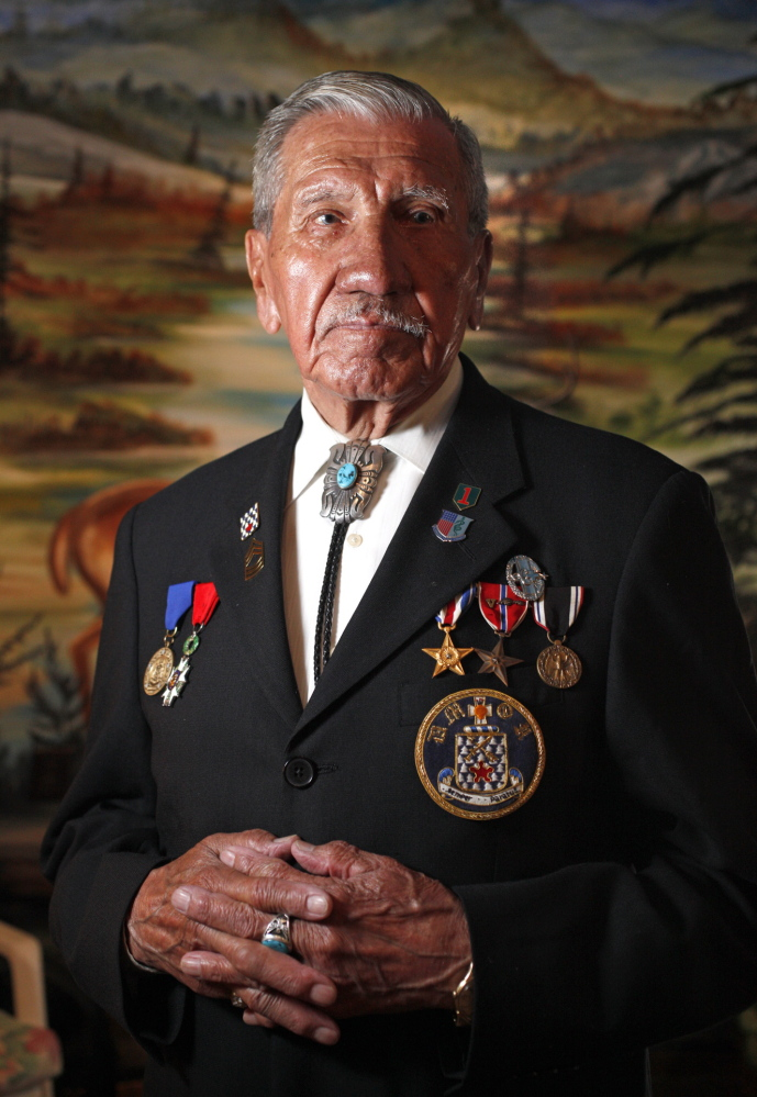 """Charles Norman Shay, who lives in Old Town, was a 19-year-old Army medic when he fought in the D-Day invasion at Normandy, France, on June 6, 1944. Shay, 89, tells his story in a new History Channel documentary, """"D-Day in HD."""" Amelia Kunhardt/Staff Photographer"""