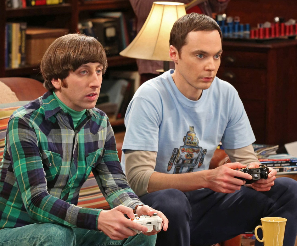 """Jim Parsons, right, and Simon Helberg in """"The Big Bang Theory."""""""