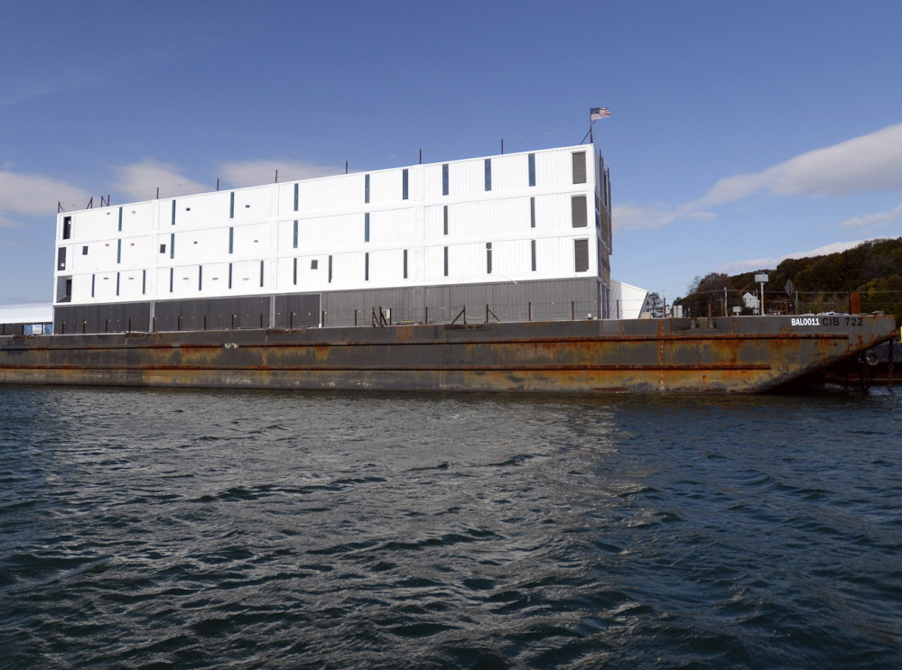 The Google barge was moved in July from Portland to Turner's Island Cargo Terminal in South Portland, where its four-story structure made of shipping containers was dismantled.