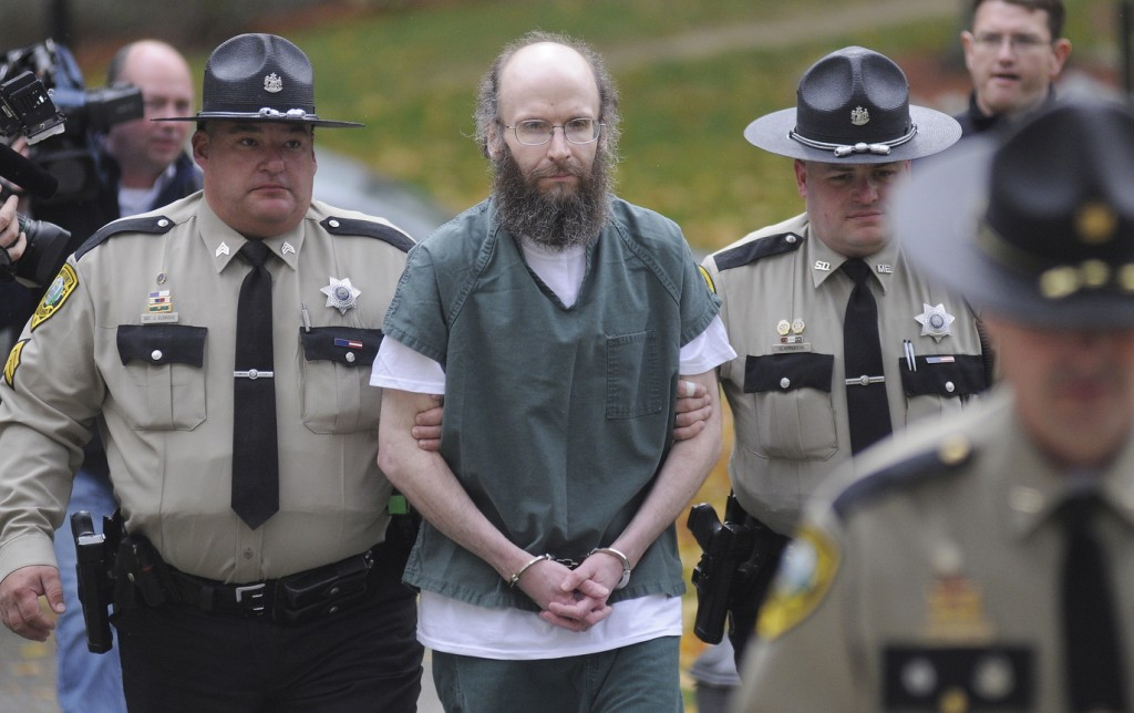 Christopher Knight, known as the 'North Pond Hermit' and photographed in 2013, pleaded guilty to 13 counts of burglary and theft and completed a 7-month jail sentence as part of a plea agreement. He is the subject of a new book from author Michael Finkel.