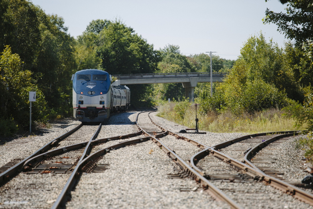 The Northern New England Passenger Rail Authority and Pan Am Railways have been replacing 30,000 rail ties on the 78 miles of track between Portland and Plaistow, New Hampshire.