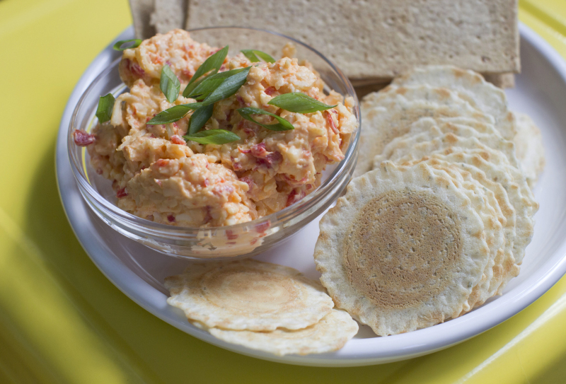 Pimiento cheese (also often spelled pimento) dates to at least the late 1800s, when the blend of pimientos (a sweet pepper) and cheese was served at formal gatherings.