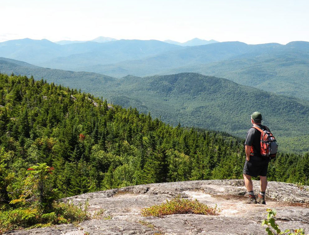 From the top of Caribou Mountain, so much of the Northeast wilderness comes into view in such a delightful fashion.