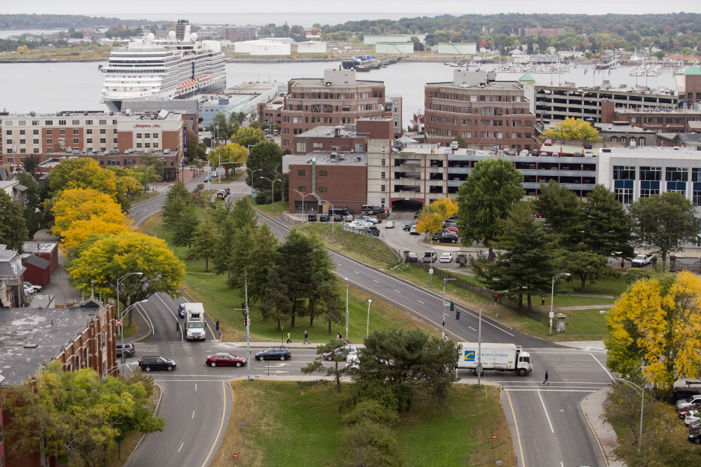 Franklin Street is a four-lane divided street that runs across the city from Interstate 295 to Portland Harbor.