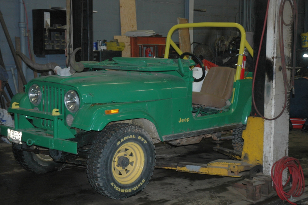 This Jeep CJ-5 was involved in the fatal crash at a hayride in Mechanic Falls. Courtesy Maine Department of Public Safety