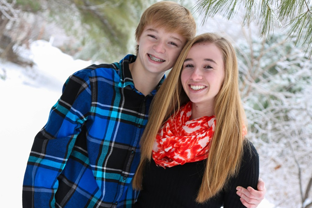 Cassidy Charette with her younger brother, Colby. Contributed photo