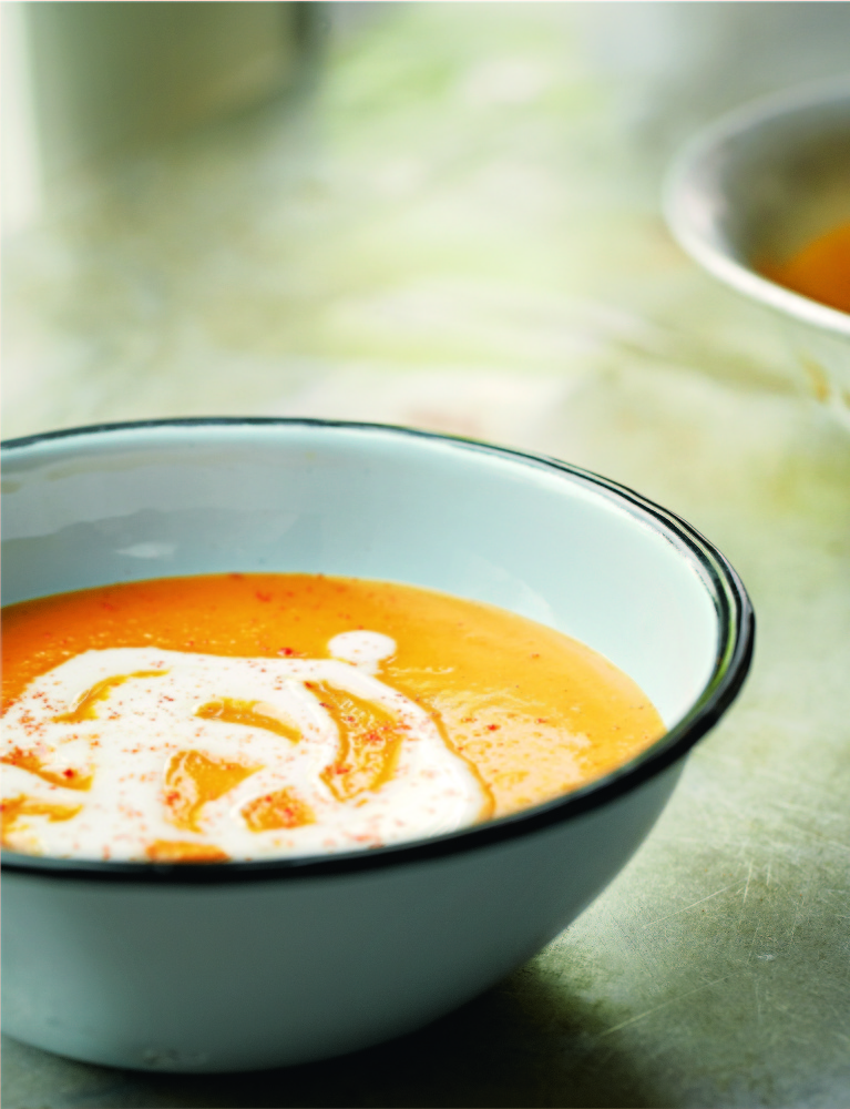 Spiced Butternut Squash and Coconut Soup