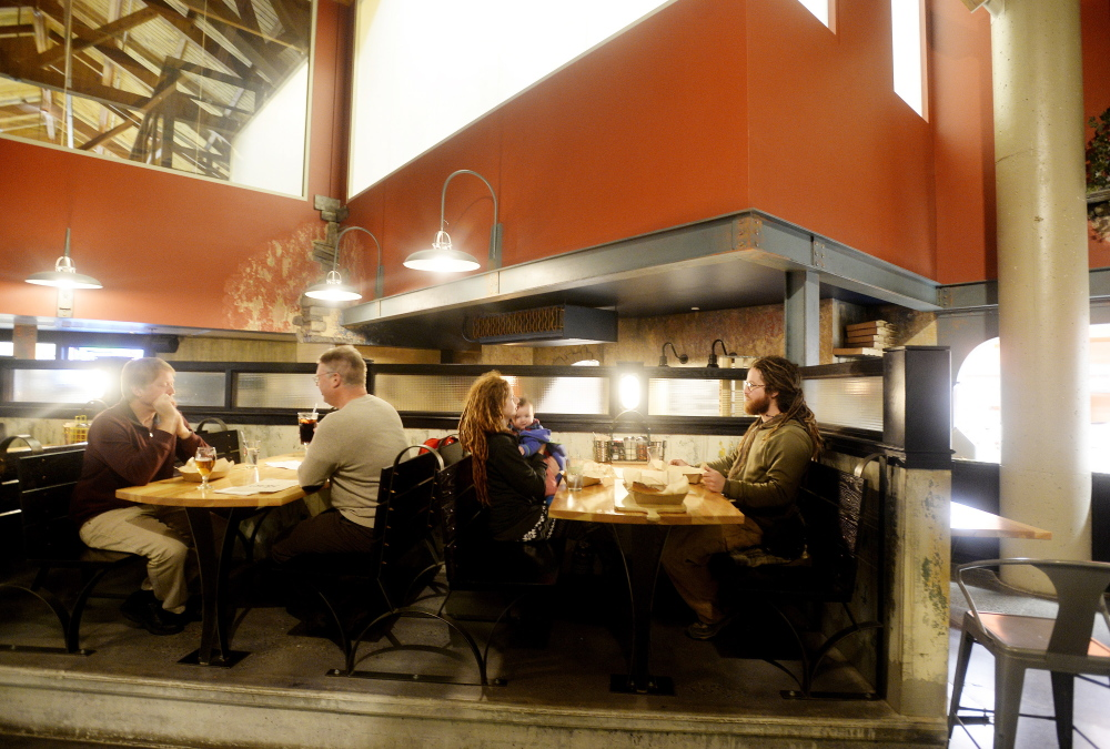 Inside Slab, where diners' ecstatic exclamations dominate the conversation.