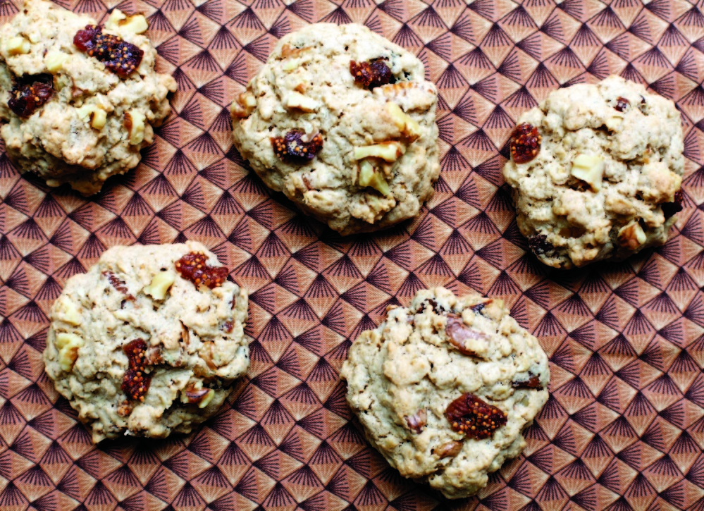 Fig-Walnut Oatmeal Cookies from 'A Simple Feast' by Diana Yen, © 2014 by the Jewels of New York Group, LLC. Reprinted by arrangement with Roost Books, an imprint of Shambhala Publications Inc., Boston, MA.