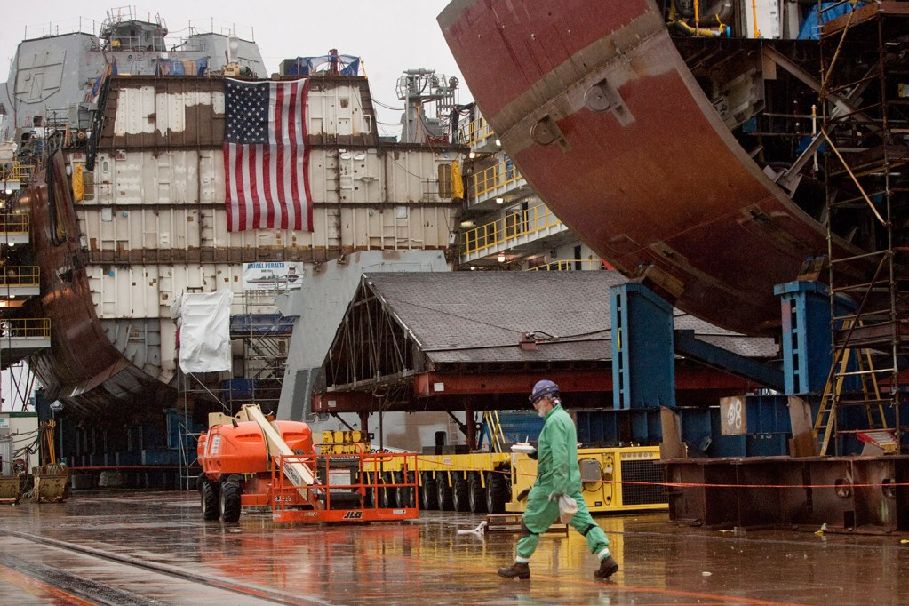 Bath shipyard's focus on cutting costs builds friction with unions