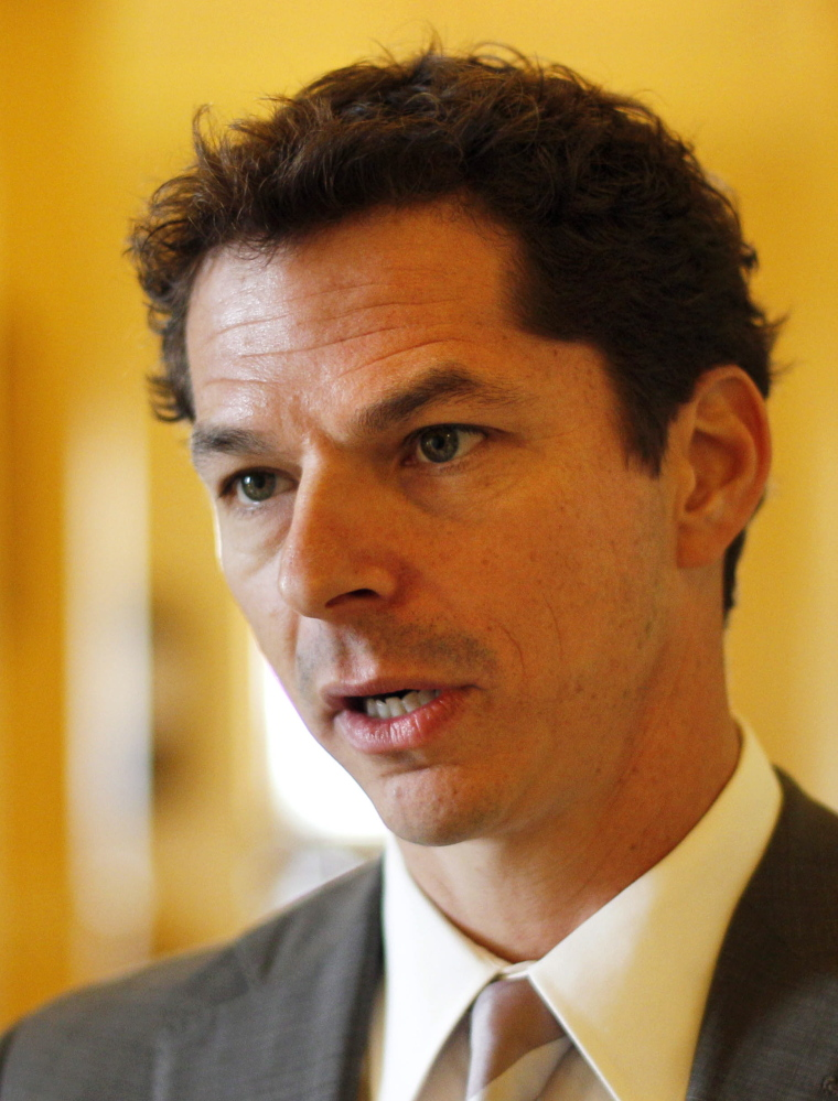 State Sen. Justin Alfond worked closely with wind developers to help the industry in mid-2014.