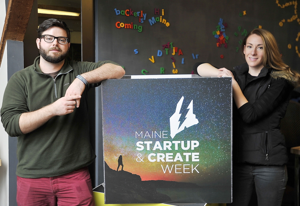 William Sullivan and Kate Curran plan to launch an online portal that will function as a clearinghouse for Maine entrepreneurs selling shares or debt in their companies.