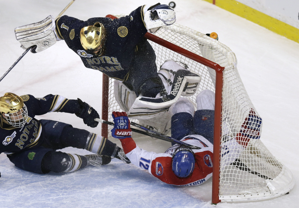 Newcomer Notre Dame raises the stakes in Hockey East