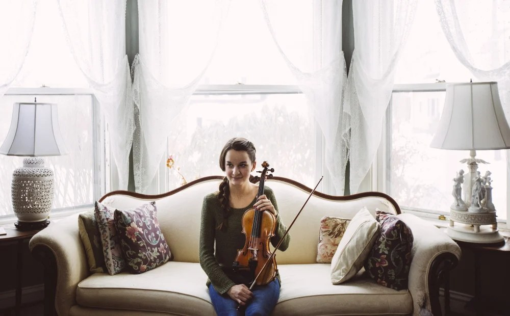 An accomplished violinist, Simone Laverdiere believes her musical ability was a factor in her acceptance at Bowdoin College in Brunswick.