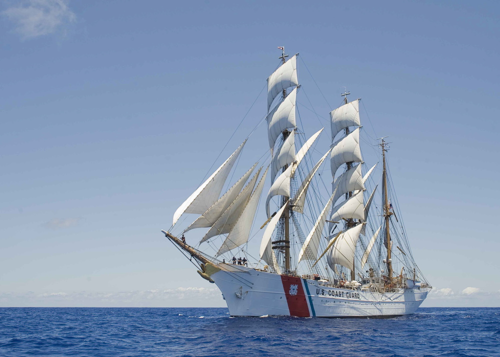 The U.S. Coast Guard barque Eagle will be among the tall ships visiting Portland Harbor this July.