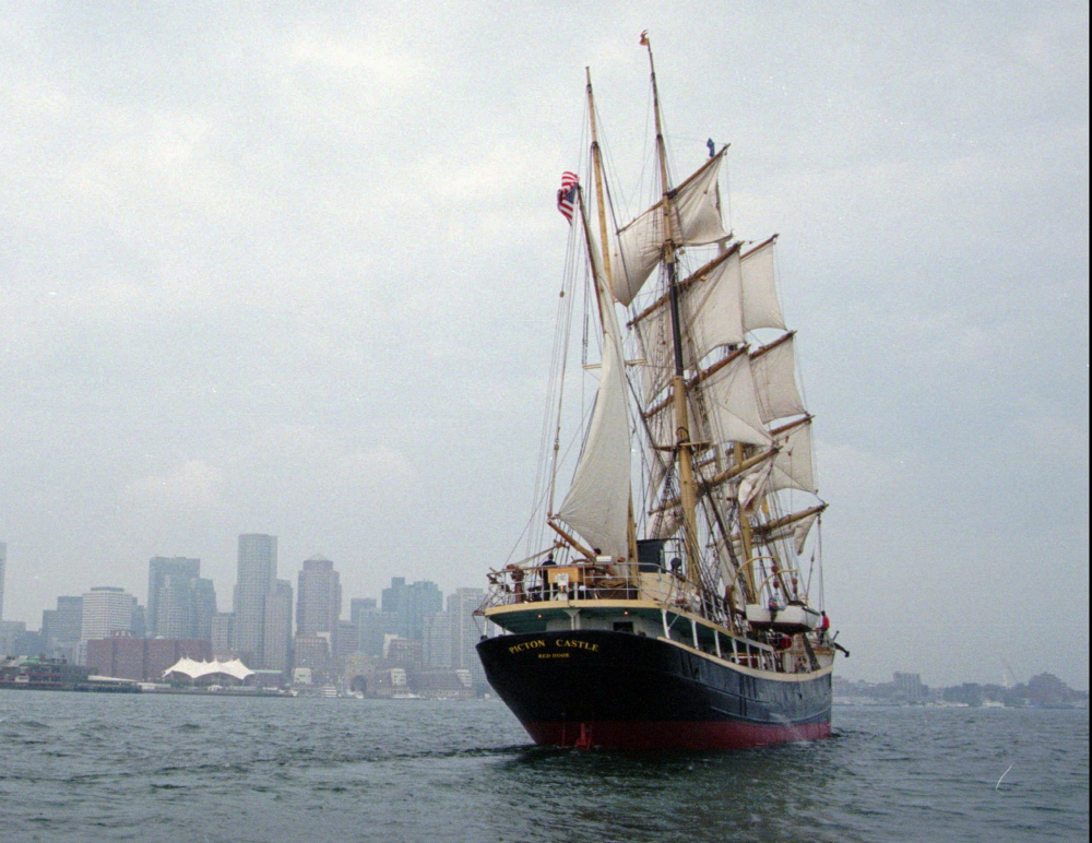 Casco Bay High School students Julien Peck and Naomi Radtke Rowe will spend time aboard the Picton Castle, a square-rigger built in 1918. .