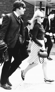 IN THIS JULY 2, 1964, FILE PHOTO, singer John Lennon and his then wife, Cynthia, are shown at Luton airport after The Beatles arrived home from their three-week tour of Australia and New Zealand. Cynthia Lennon passed away on Wednesday at age 75 at her home in Mallorca, Spain, following a short battle with cancer.