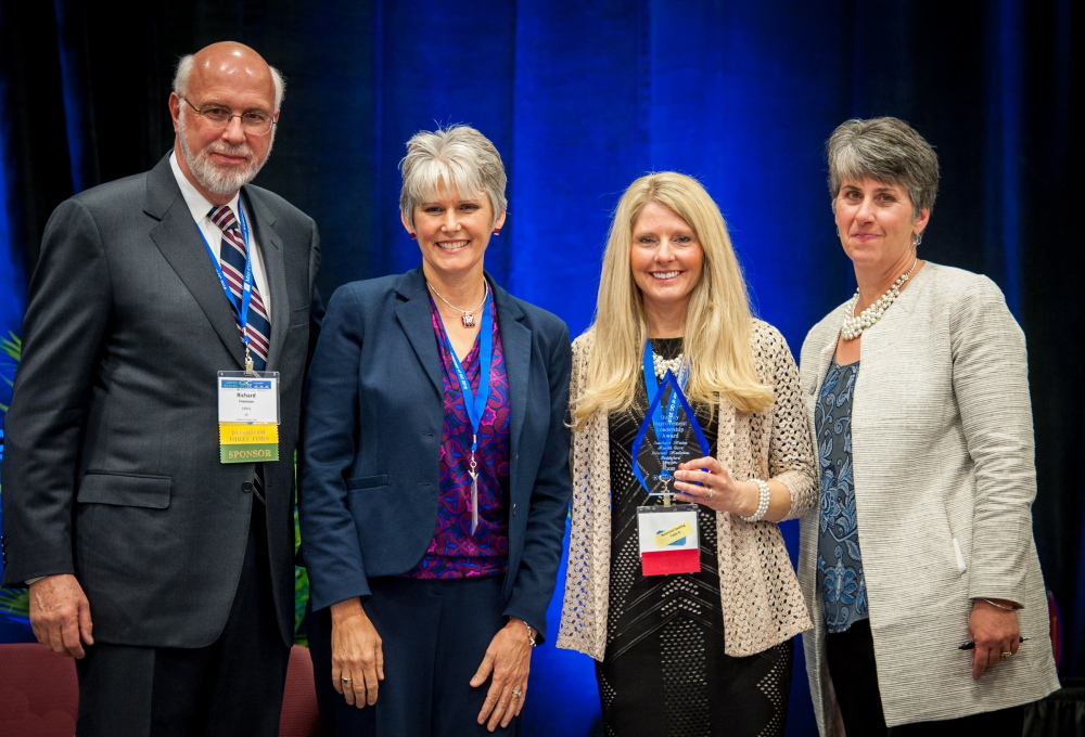 Accepting a Maine Quality Counts award on behalf of SMHC's Internal Medicine practice are, from left, Dr. Richard Freeman of Eastern Maine Healthcare Systems; Merle Westbrook, ANP, of SMHC; practice manager Jane Foley; and Maine Quality Counts Executive Director Dr. Lisa Letourneau.