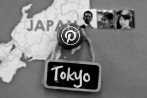 A PIN signifies the Pinterest office in Japan on a map at the Pinterest office in San Francisco, Wednesday, April 1.