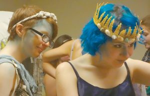 ERIKA LOVE and Maddie Coyne, Art Van Designers, at a past Mid-Coast Altered Couture Contest event.