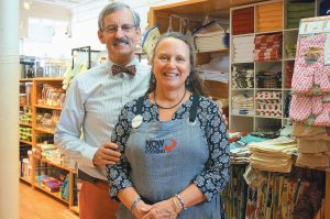 MIKE AND BETSY FEAR, owners of Now You're Cooking in Bath, are shown in their store. They are celebrating 15 years of being in business this month.