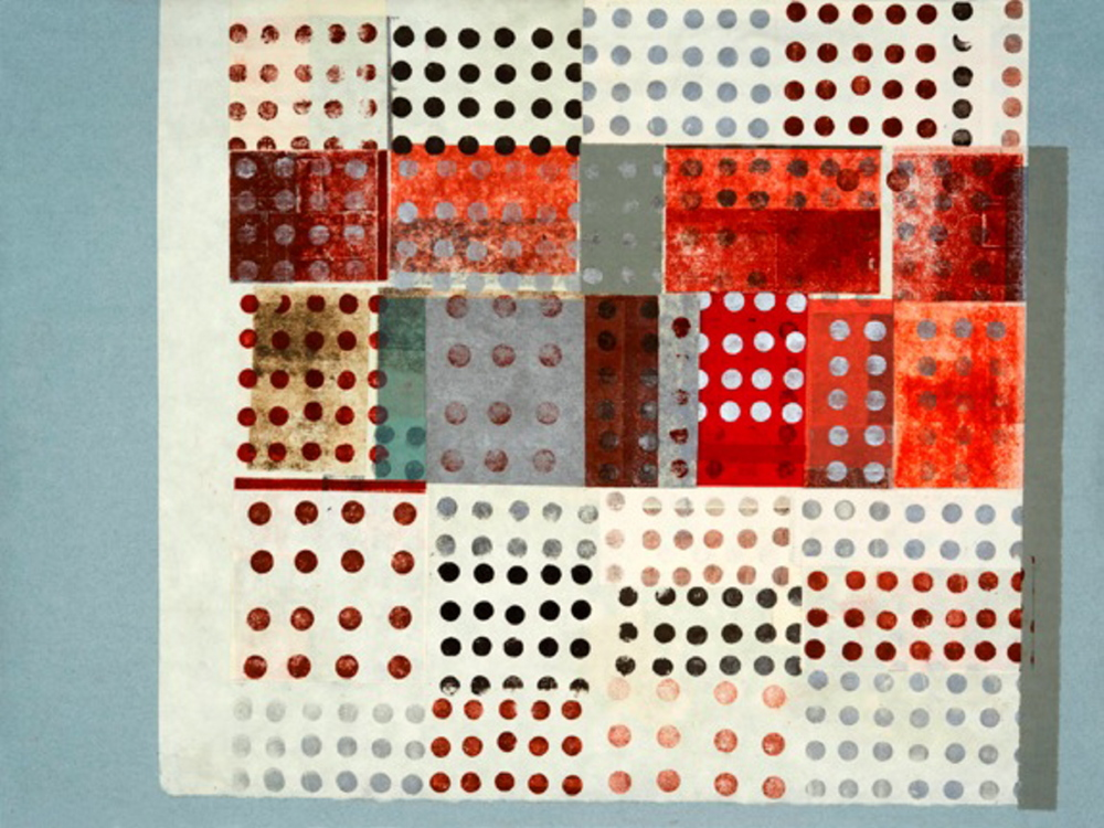 """Henry Wolyniec, """"HW13.33,"""" paper collage and monotype."""