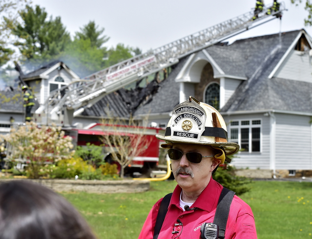 Scarborough Deputy Fire Chief Tony Attardo said a leaking propane tank appears to have accelerated the fire Friday at 2 Beaver Brook Road in Scarborough.
